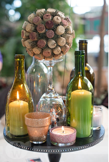 wine cork bouquet