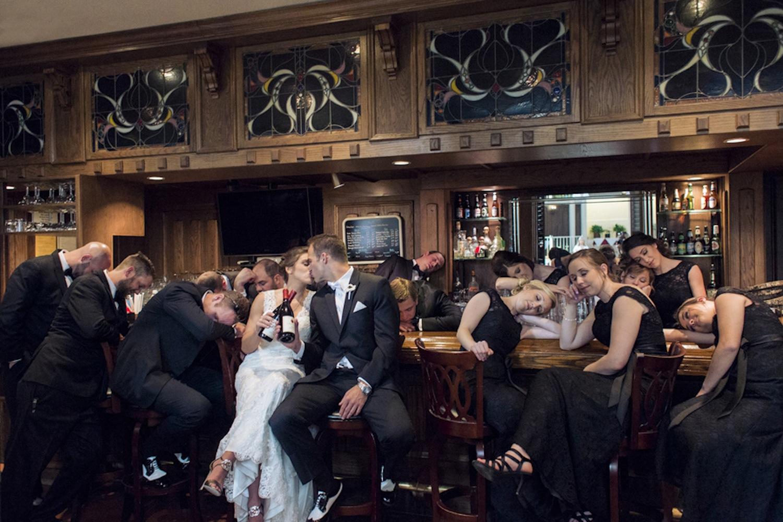 classic black tie wedding 23