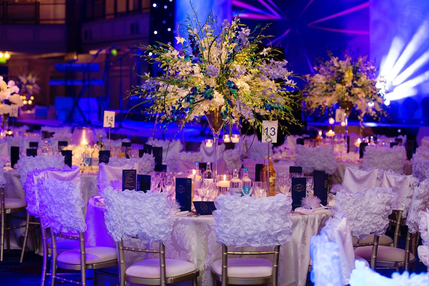 Blue and White Glamorous Grosvenor House Wedding 26