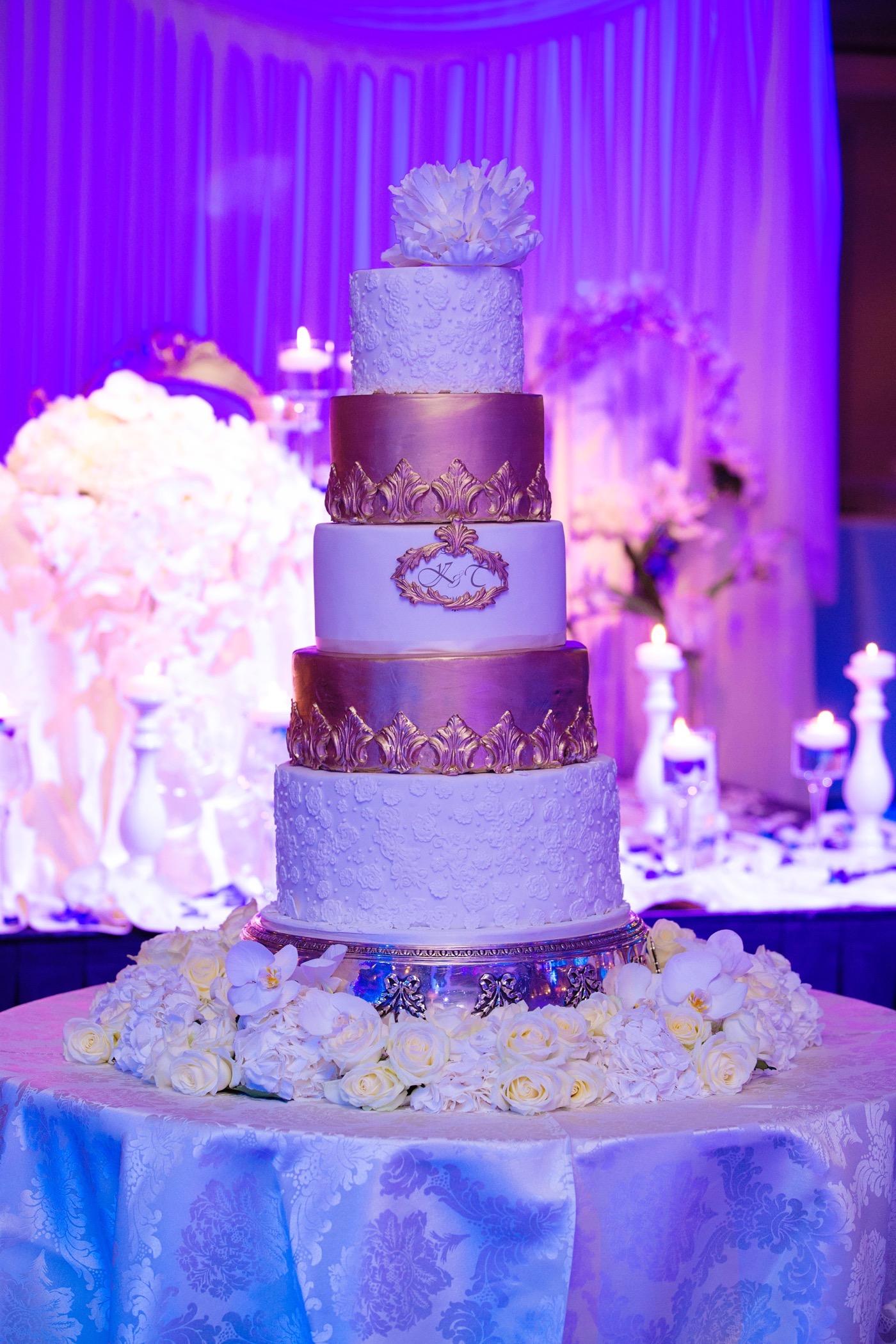 Blue and White Glamorous Grosvenor House Wedding 27