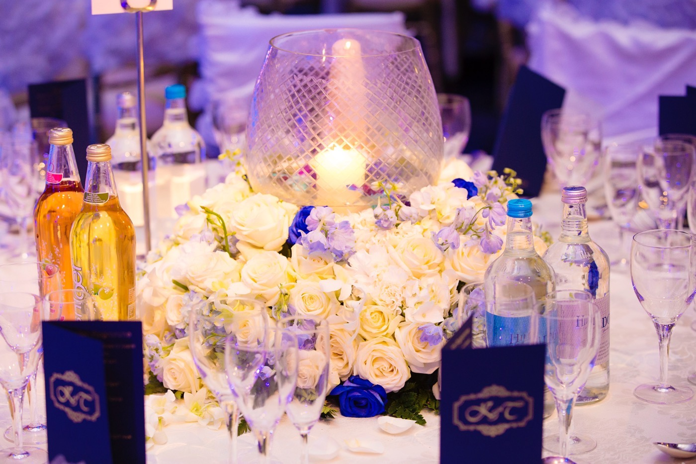Blue and White Glamorous Grosvenor House Wedding 29