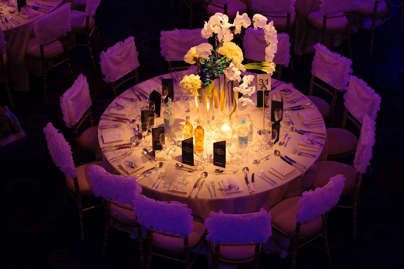 Blue and White Glamorous Grosvenor House Wedding 32