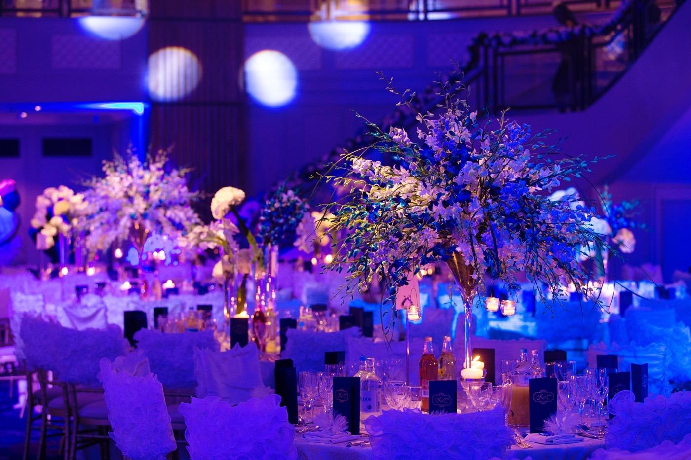 Blue and White Glamorous Grosvenor House Wedding 35