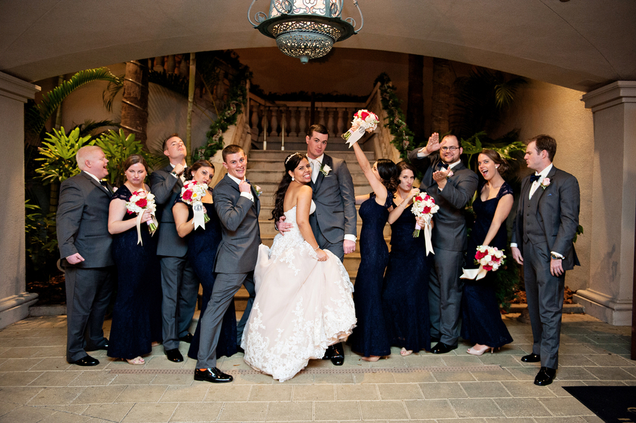 Blue and gold wedding at the casa monica hotel 117