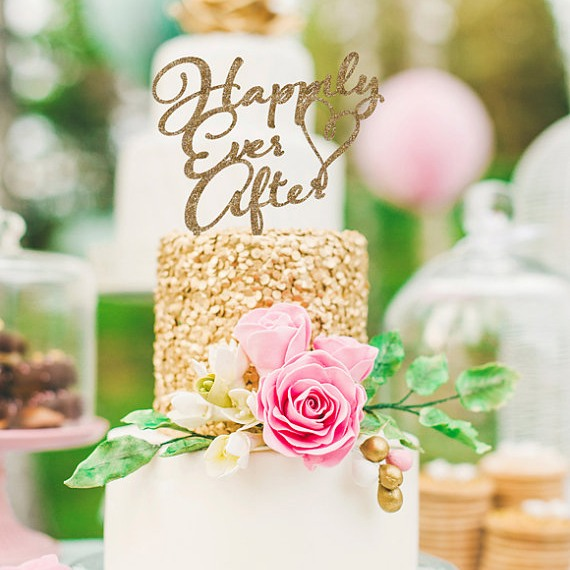 happily ever after Cake Topper 1