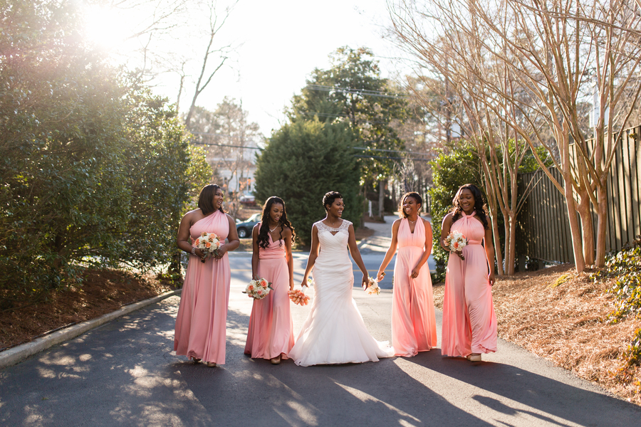 Intimate courtyard wedding by elle danielle photography 38