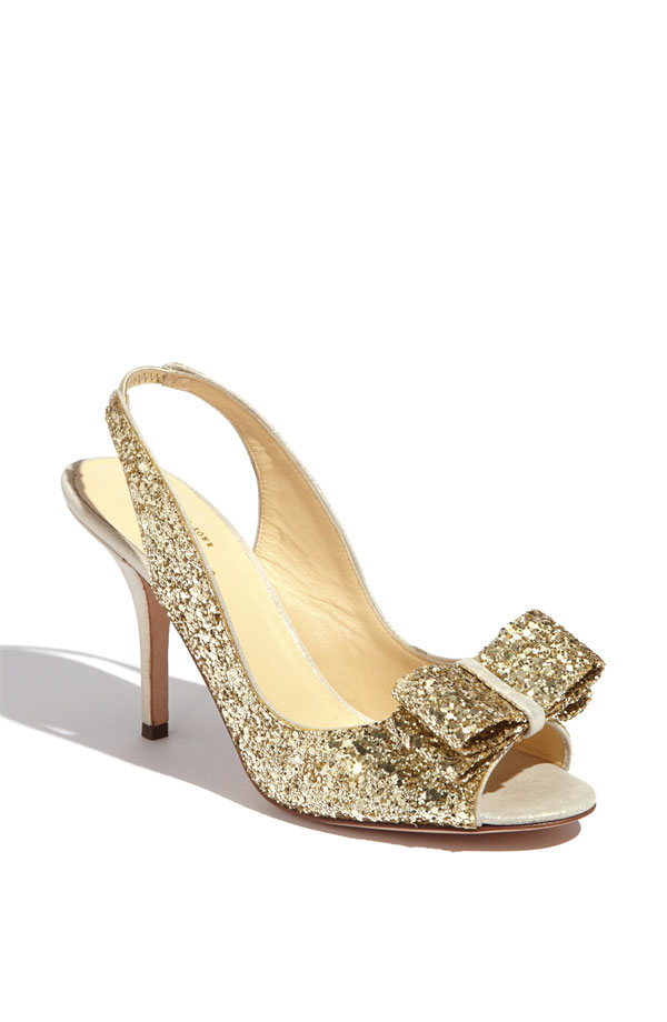 Kate Spade glitter wedding shoes