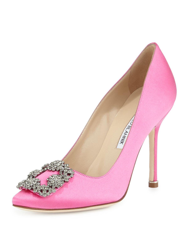 Manolo Blahnik Hangisi Pink Wedding Shoes