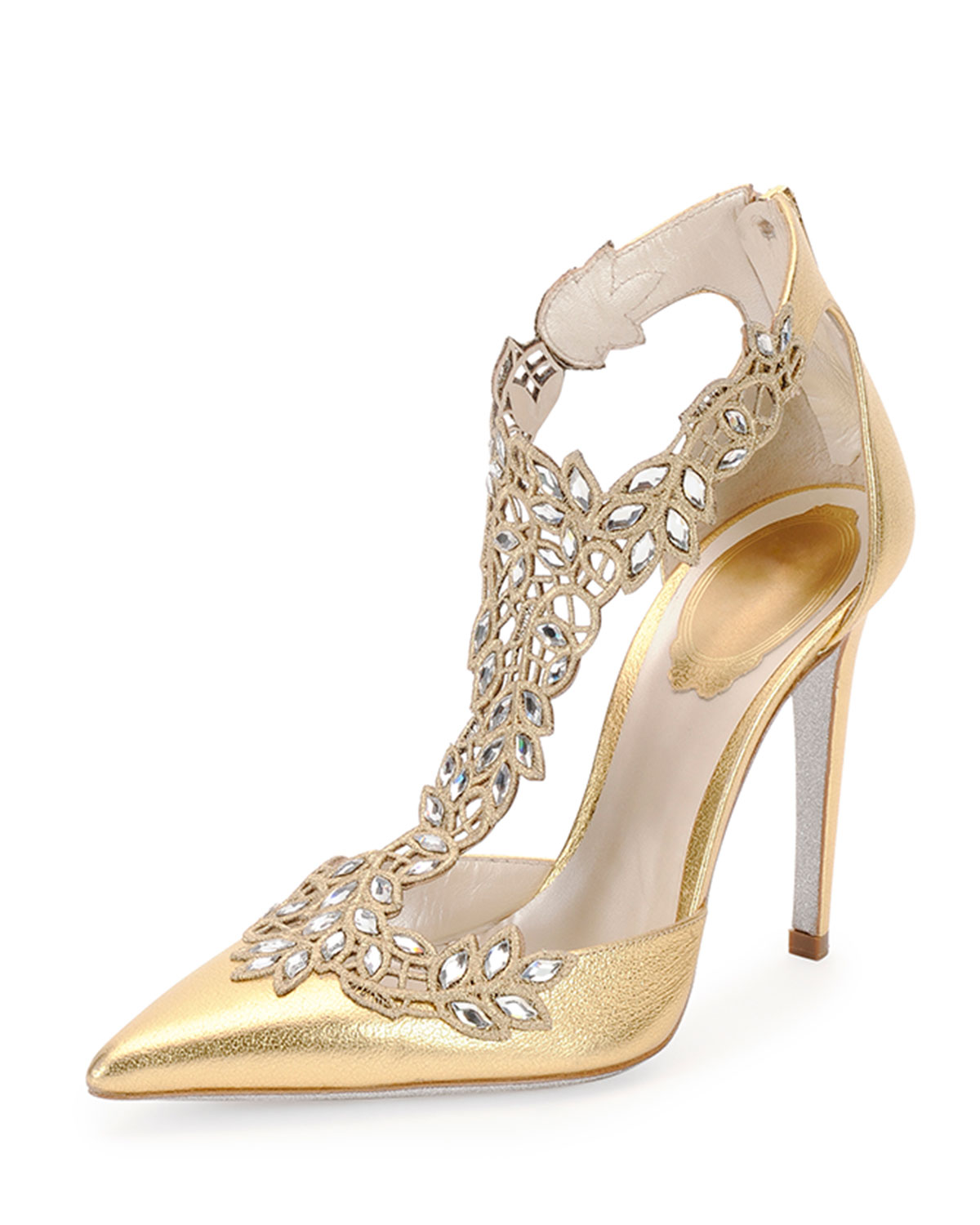 Rene caovilla wedding shoes gold
