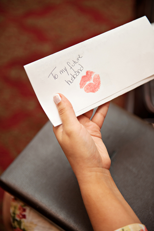 brides note to groom