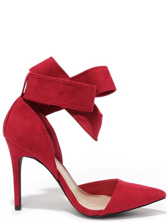 lulus red bow wedding shoes
