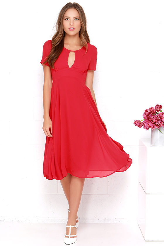 red dress by lulus