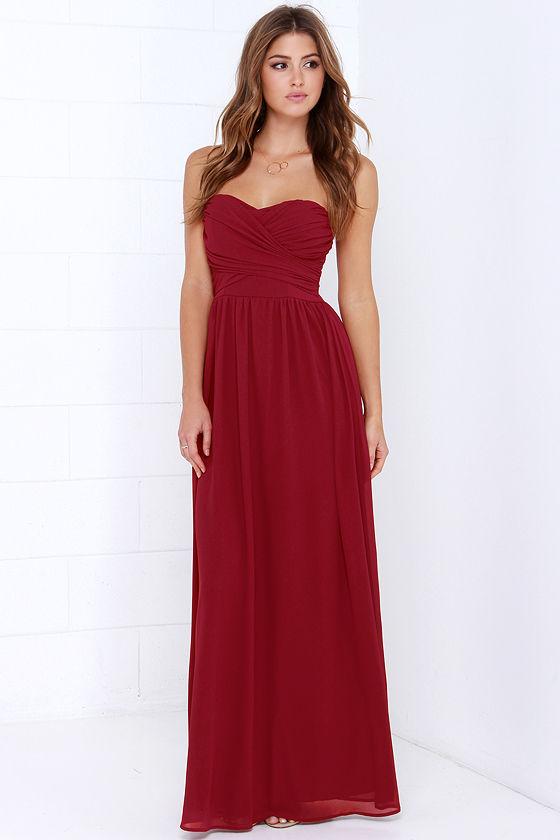 wine bridesmaid dress _ aisle perfect