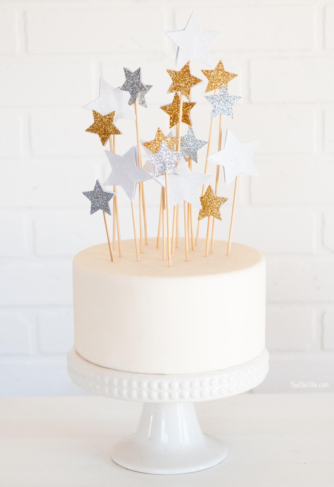 diy star cake topper