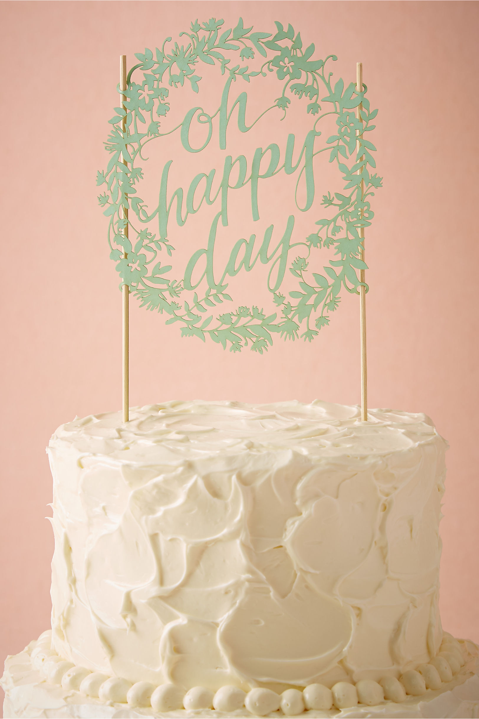 oh happy day wedding cake topper