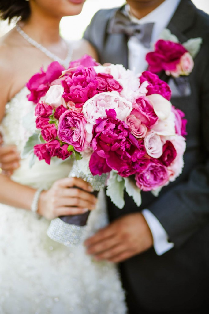 pink and fuchsia bouquet