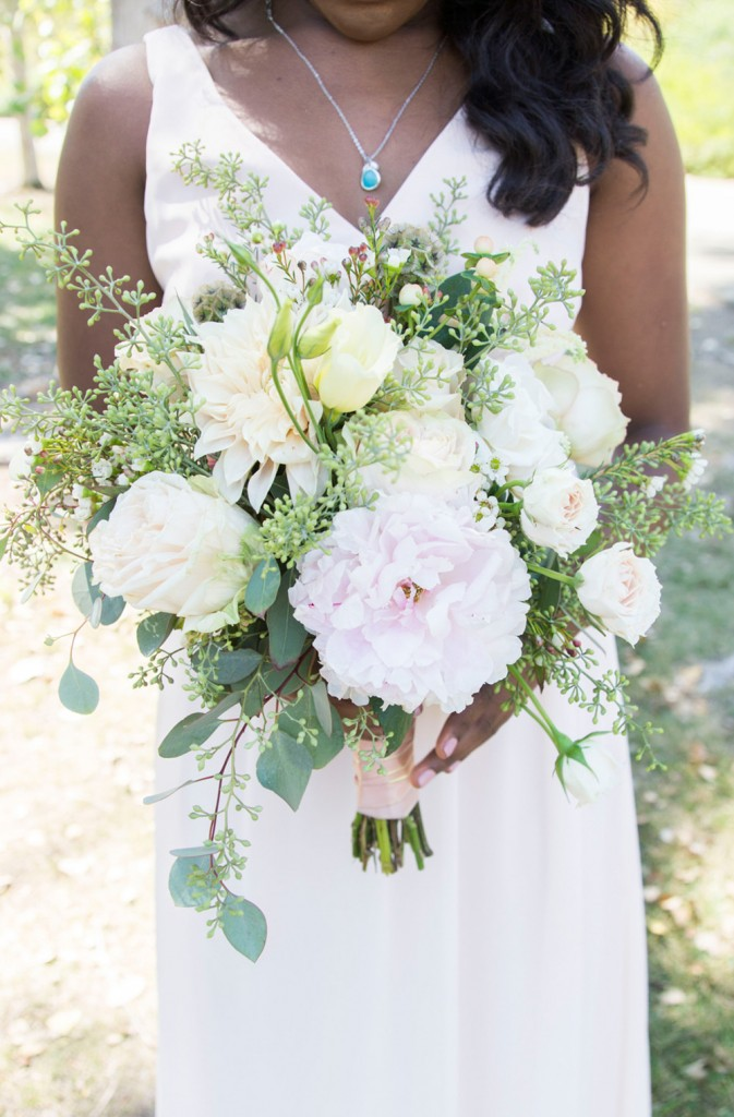 Lush floral and green bouquet