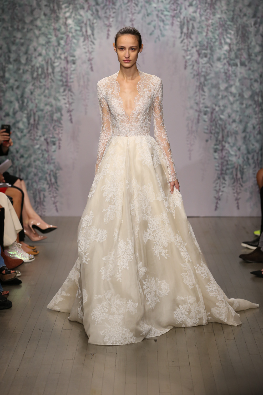 Monique Lhuillier Fall 2016 Bridal - Look 11