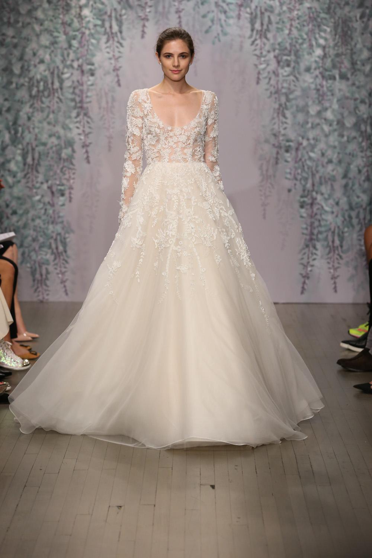 Monique Lhuillier Fall 2016 Bridal - Look 14
