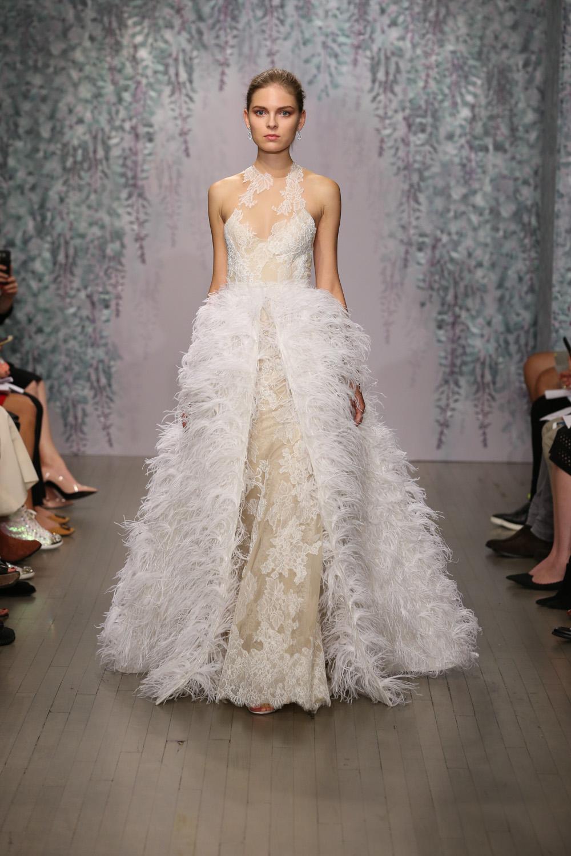 Monique Lhuillier Fall 2016 Bridal - Look 5