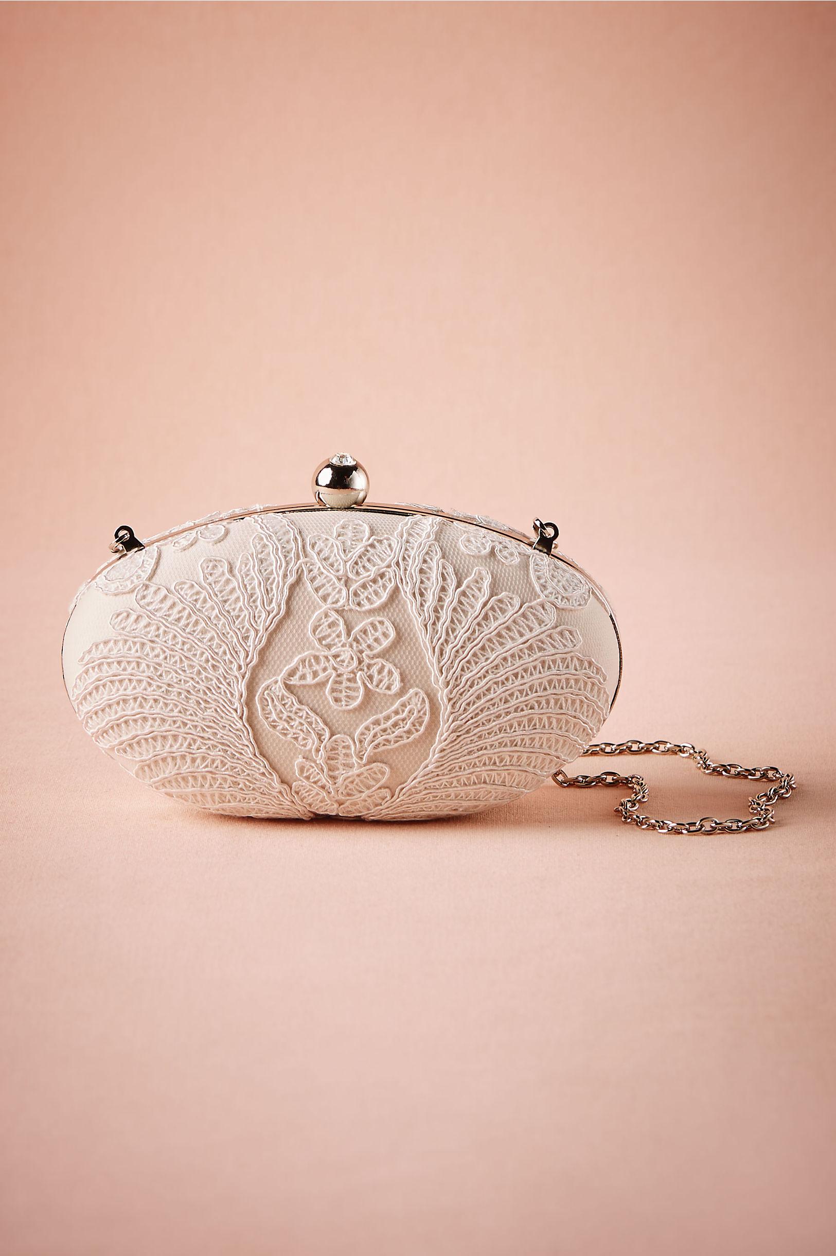 Tadashi Shoji bridal clutch