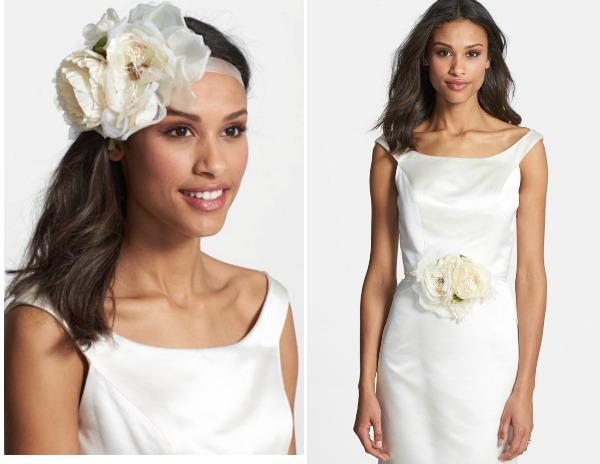 bridal belt and headpiece