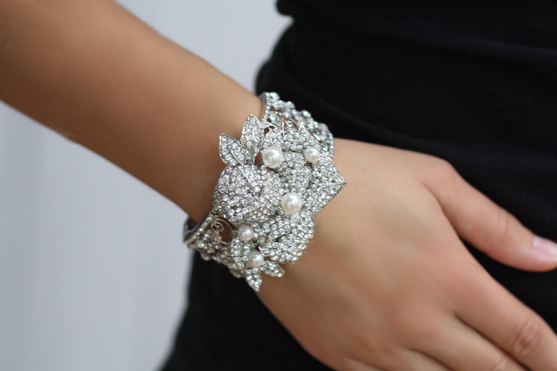 embellished bridal cuff