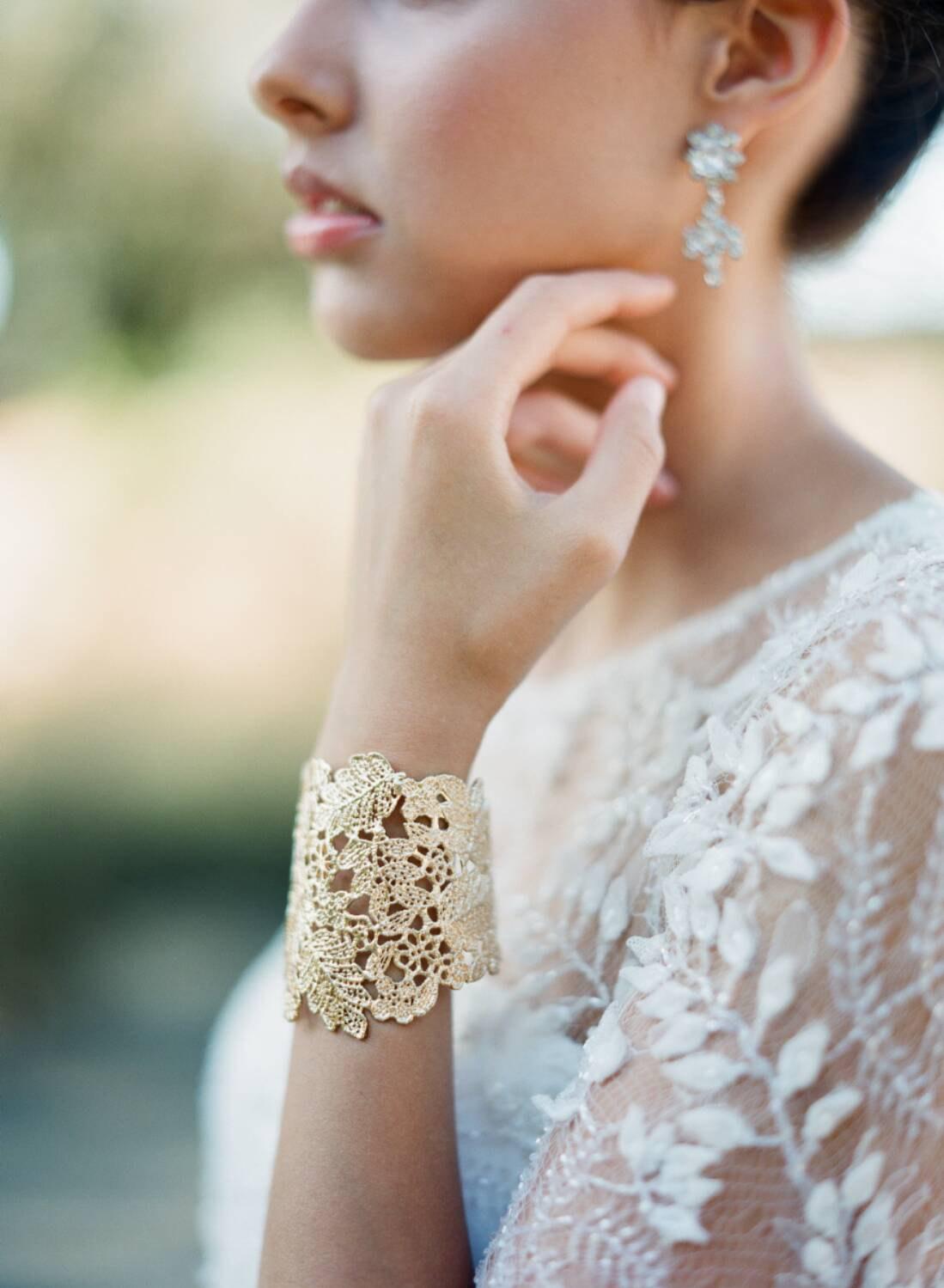 ornate bridal cuff