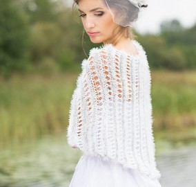 White Lace Shrug - Wedding Cover UP