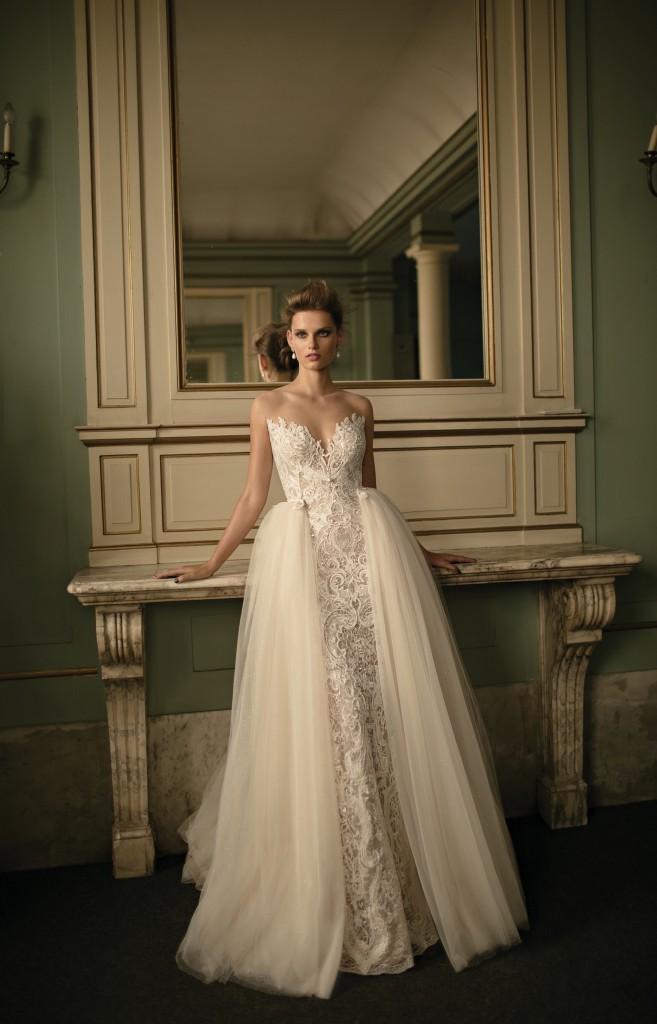 Overskirt wedding dress Berta Bridal 2016 Collection 46