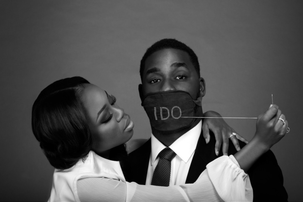 Black and white engagement shoot by remi adetiba
