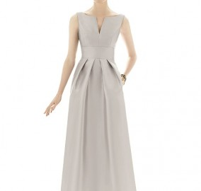 Sateen Twill Bridesmaid Dress