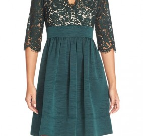 Lace & Faille Dress