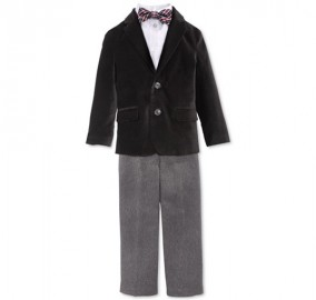 Ring Bearer 4-Piece Velvet Suit
