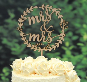 Rustic Wood Wedding Cake Topper