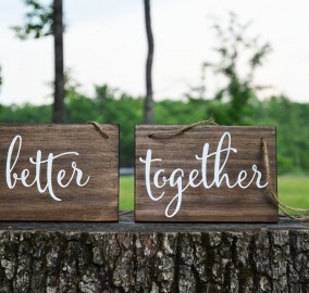 Wood Wedding Chair Signs