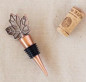 fall wedding wine bottle stopper favor
