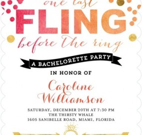 Bachelorette Party Invitation Stationery