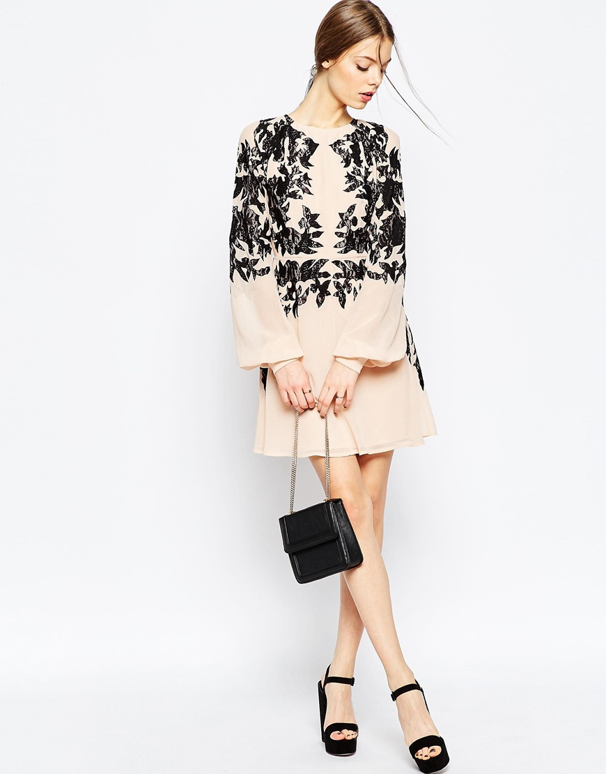 09-ASOS Lace Embroidered Dress