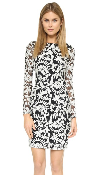 Alice and Olivia Katy Open Back Dress