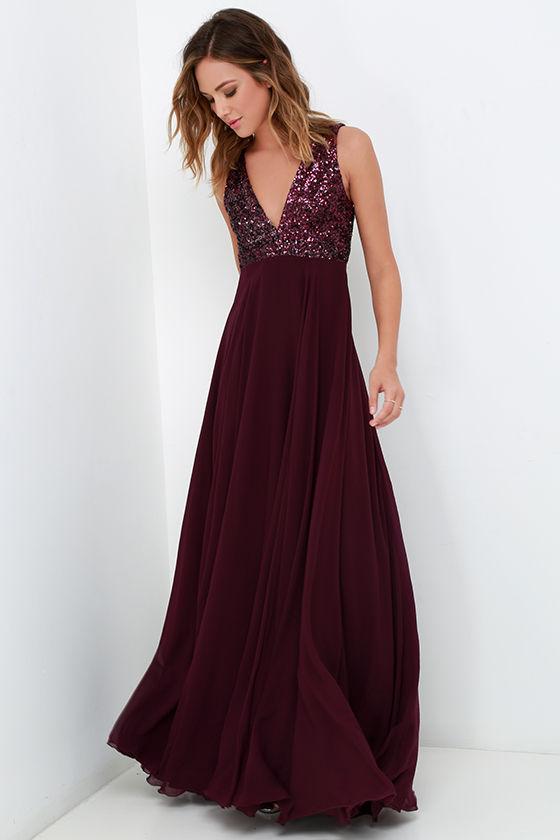 15-Dress the Population Purple Dress