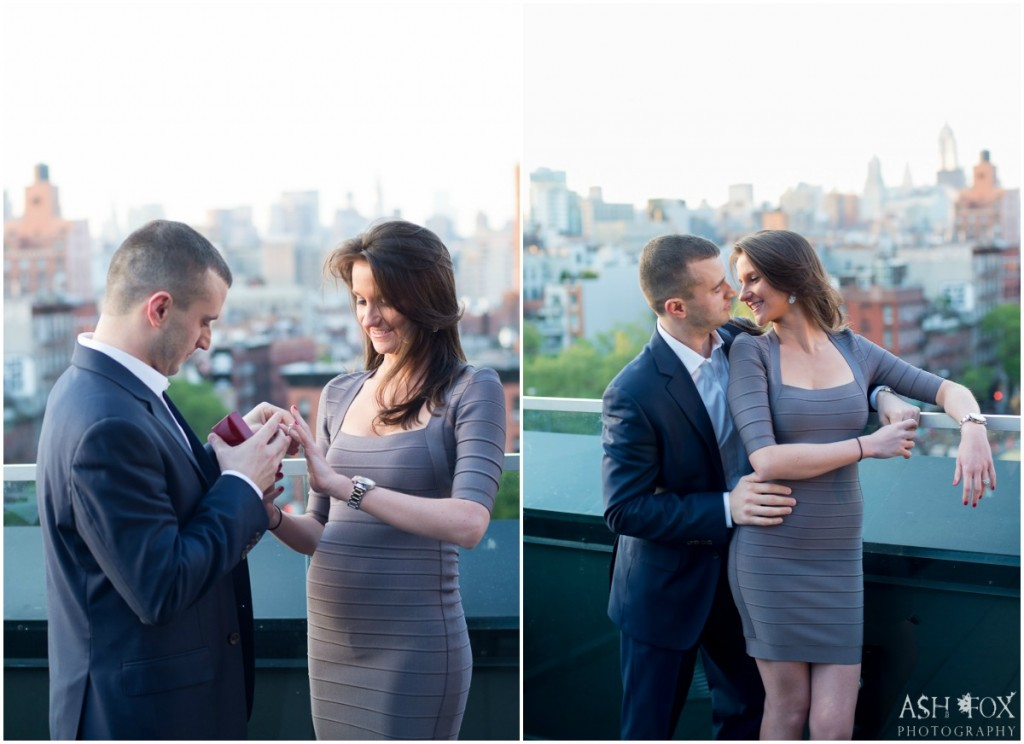 Katie and Ravi's Rooftop Proposal at SIXTY LES