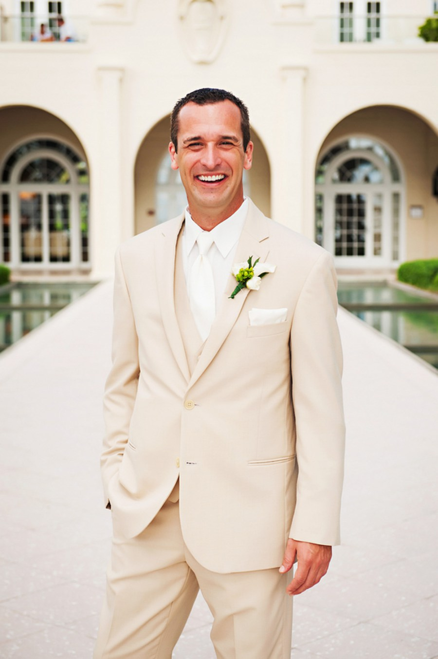 Tan Groom Suit