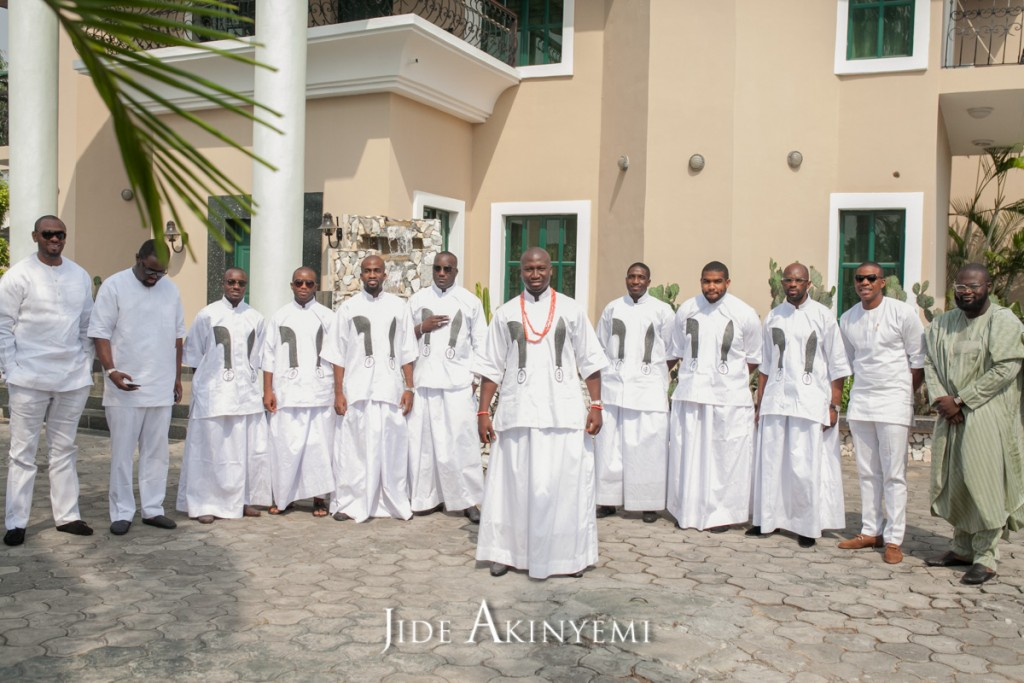 Traditional Edo Groomsmen