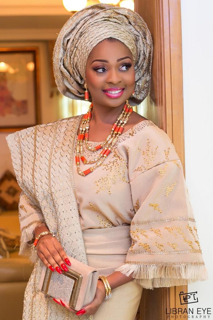 Traditional nigerian bride libran eye photography