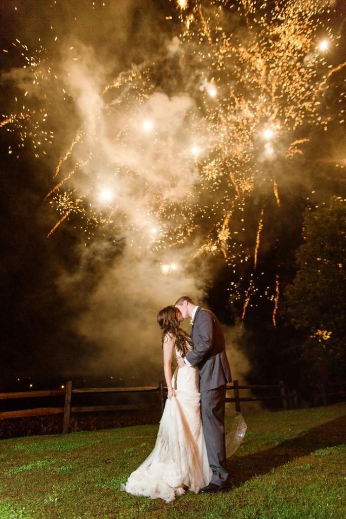 Wedding Fireworks captured by Katelyn James