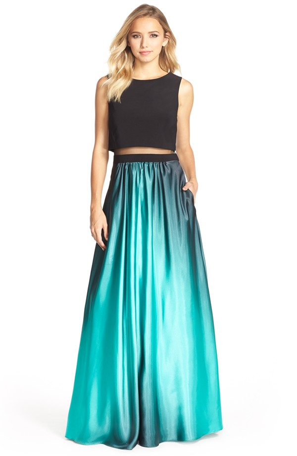 2949d99f3ac Wedding Guest Outfits for the Holiday-Betsy Adam Satin Ball Gown