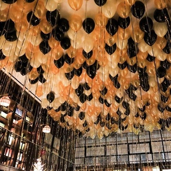 balloon ceiling new years eve wedding zio and sons