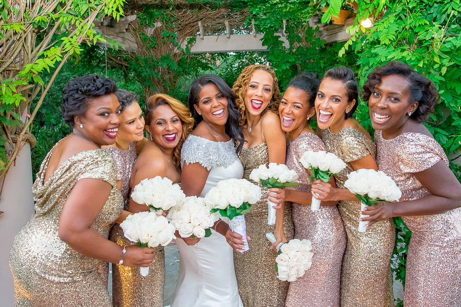 sequin bridesmaid nye wedding inspiration- kesha lambert