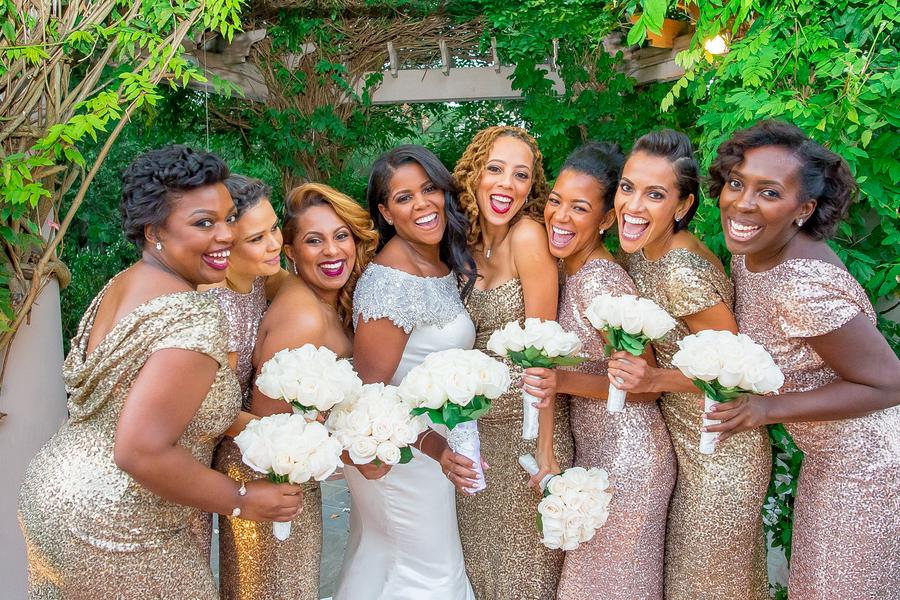 sequin bridesmaid nye wedding inspiration- kesha lambert
